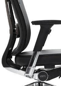 Офисное ортопедическое кожаное кресло DuoFlex Leather BR-100L